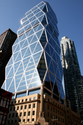 The Hearst Tower Was Built Nearly Eighty Years After Its Base